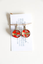 Load image into Gallery viewer, Red Skies - Washi Paper Earrings