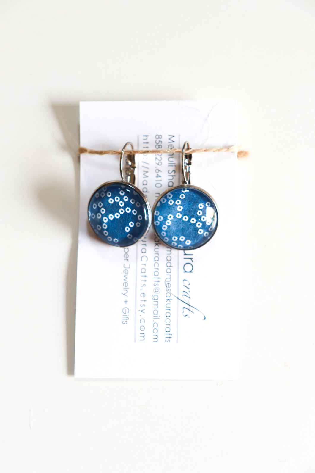 Shibori - Washi Paper Earrings