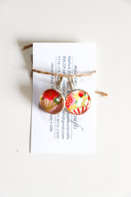 Load image into Gallery viewer, Pink Fans - Washi Paper Earrings