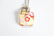 Load image into Gallery viewer, Yellow Flowers - Double Sided Washi Paper Pendant Necklace