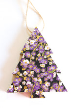 Load image into Gallery viewer, Purple Plum Blossoms - Wood Mini Tree Ornament