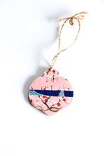 Load image into Gallery viewer, Cranes and Branches - Mini Wood Washi paperOrnament