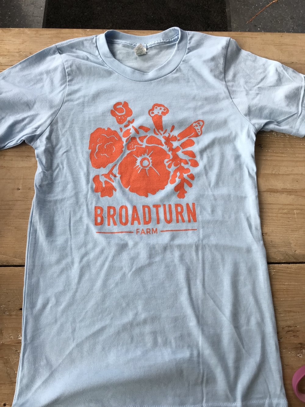 Broadturn Farm T-Shirt: Light Blue