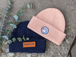 100% Wool Hat With Broadturn Farm Patch