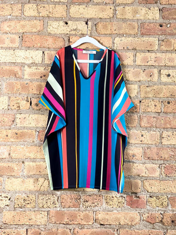 KIDS TECHNICOLOR STRIPE//The Original Kaftan Kids