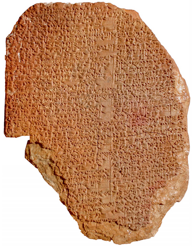 "The ""Gilgamesh Dream Tablet"", a 3600-year-old clay artifact originated in the area that is today Iraq."