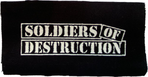 Soldiers of Destruction Small Patch 4x2""