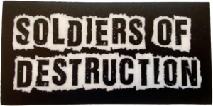 Soldiers of Destruction Sticker 5x2.5""