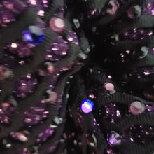 "Load and play video in Gallery viewer, ""Purple Haze"" Luxury Face Covering Pink Glitter and Purple AB Swarovski Crystals"