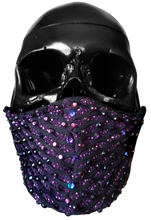 "Load image into Gallery viewer, ""Purple Haze"" Luxury Face Covering Pink Glitter and Purple AB Swarovski Crystals"