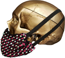 "Load image into Gallery viewer, ""Text You Later"" Luxury Face Covering Hot Pink Sequins and AB Swarovski Crystals"