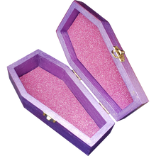 "Load image into Gallery viewer, ""The Last Unicorn"" Crystal Coffin Keepsake Box"