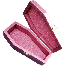 "Load image into Gallery viewer, ""Victoria"" Feminine Cameo Crystal Coffin Box"