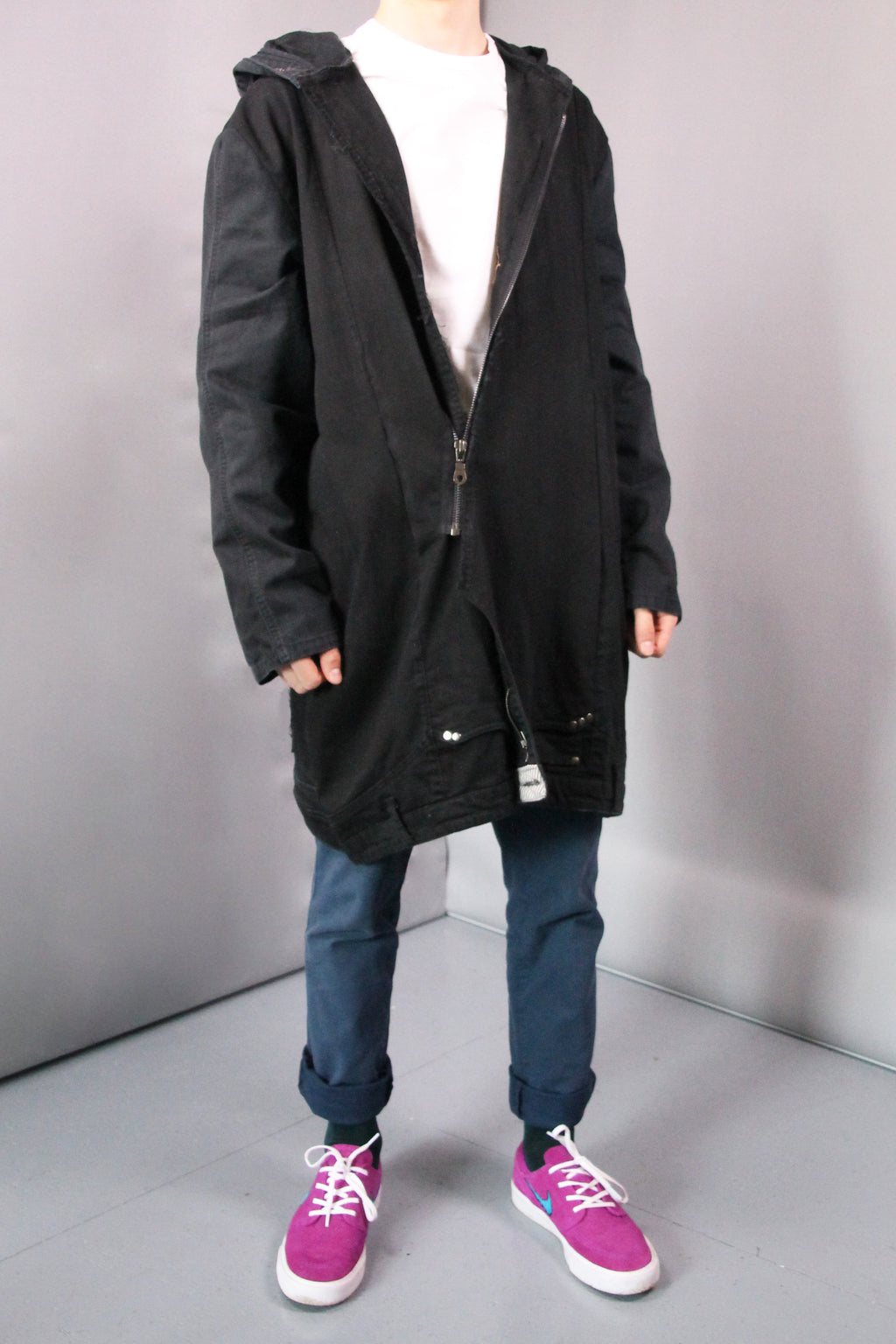 DARK DENIM COAT