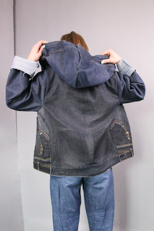 DENIM JACKET WITH HOOD