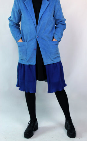 BLUE BLAZER-COAT