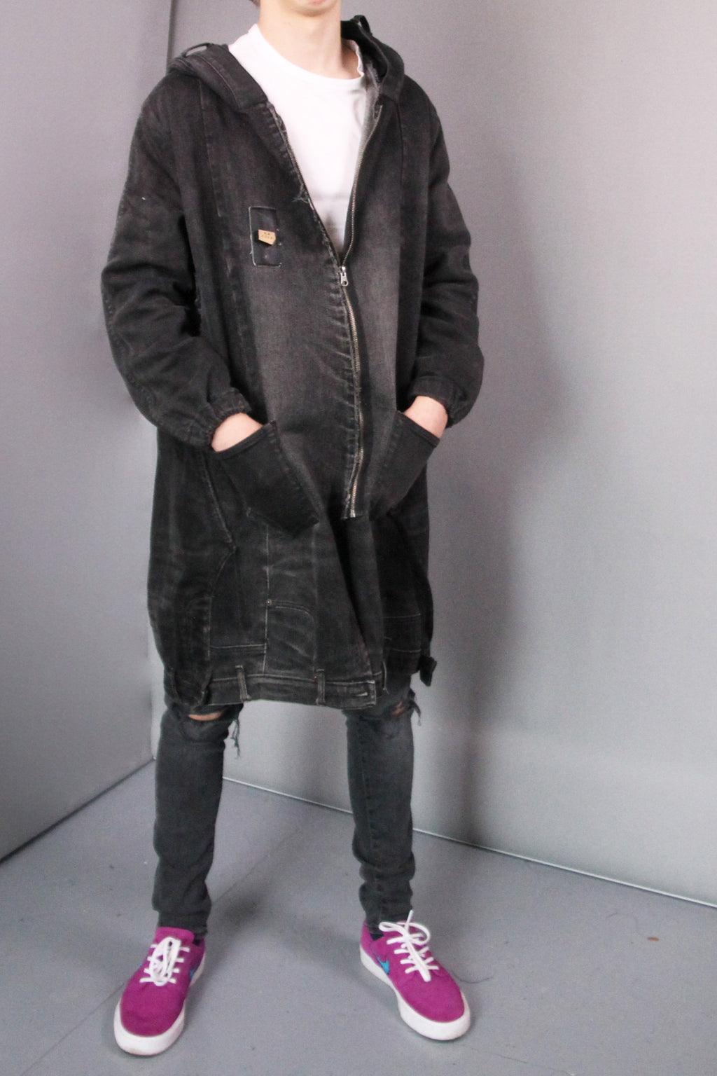 DARK UNISEX DENIM COAT
