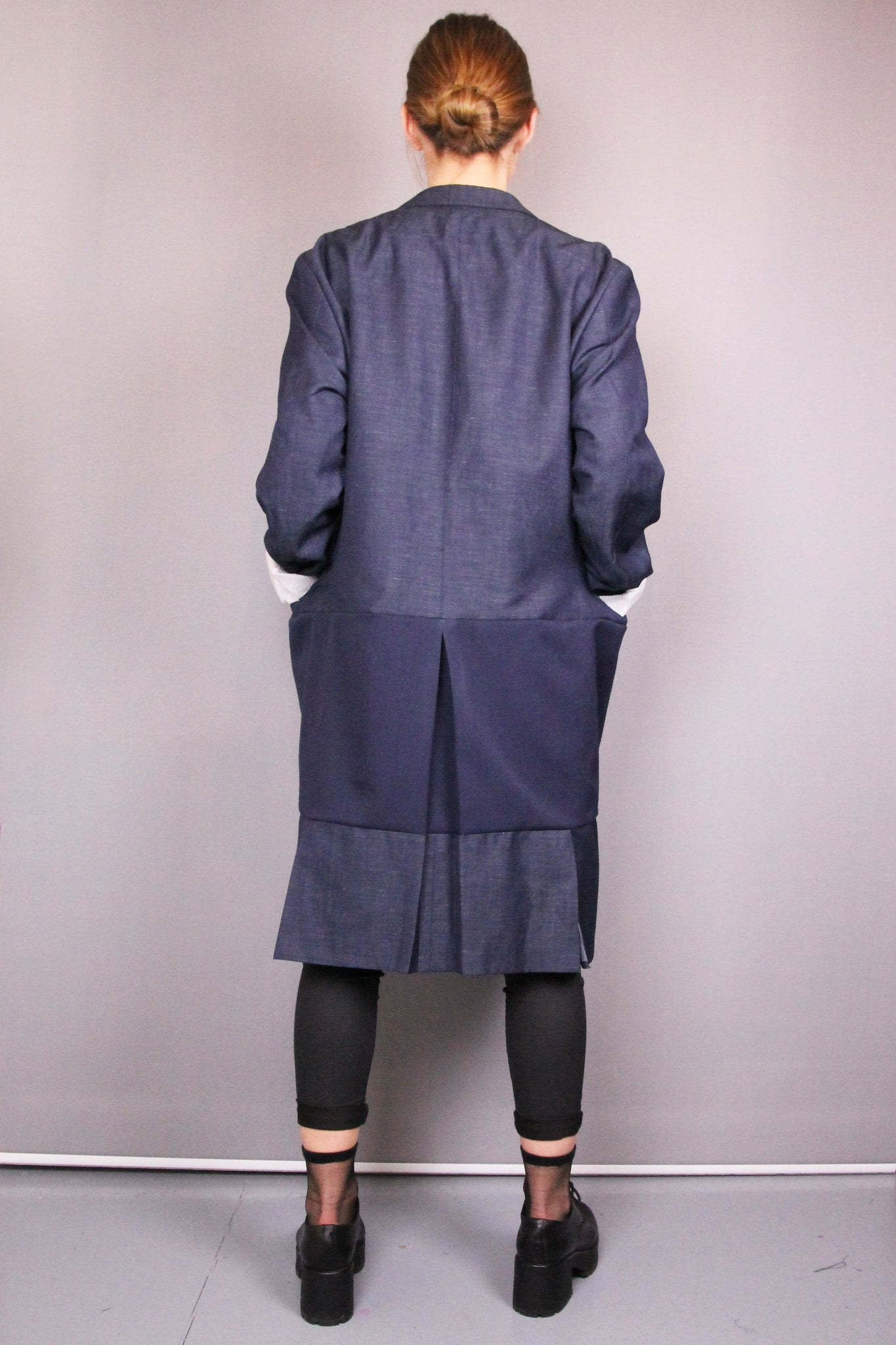 DARK BLUE BLAZER-COAT