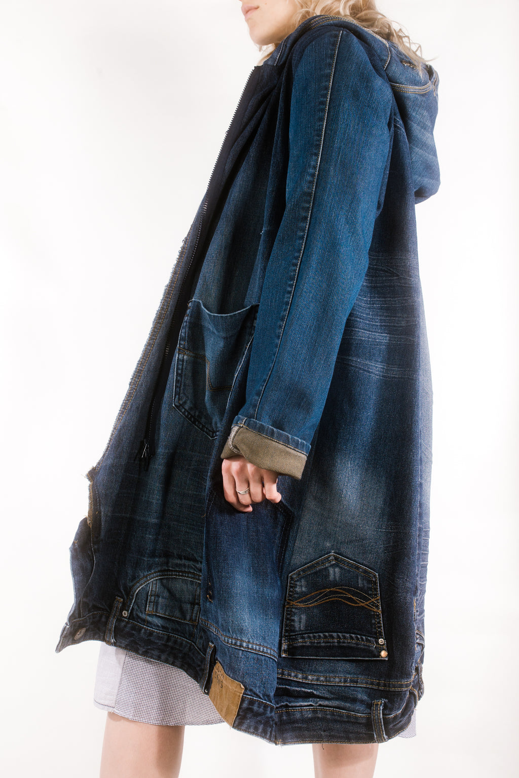 OVERSIZED COAT DARK BLUE