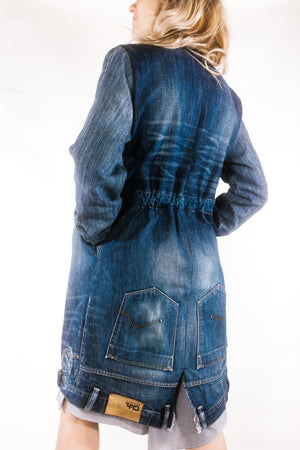FITTED DENIM COAT
