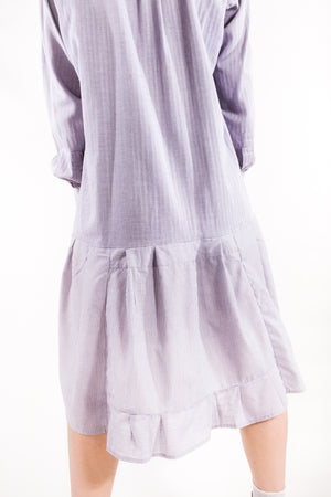 PHOEBE dress gray with a shade of purple