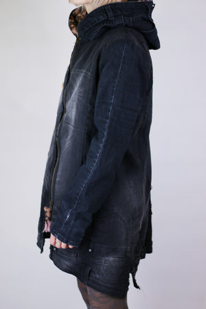 WARM DENIM COAT DARK