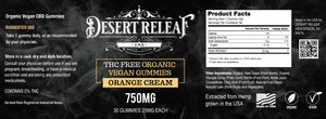 THC FREE ORGANIC VEGAN GUMMIES 25MG EACH - 30CT