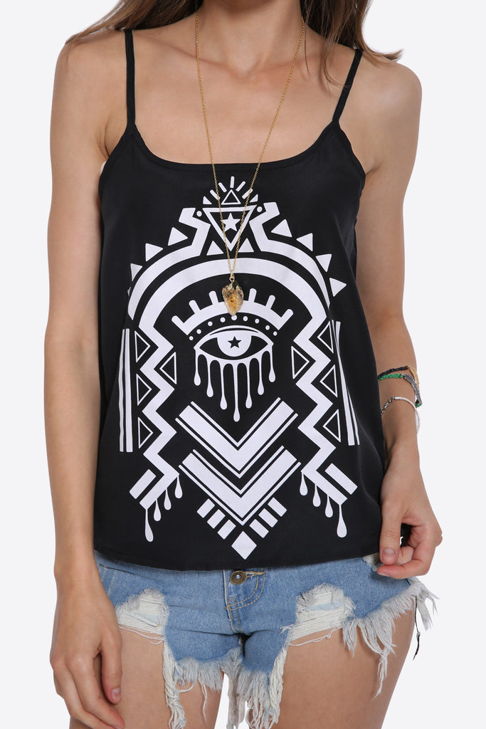 '70's Tribal Printed Tank Top