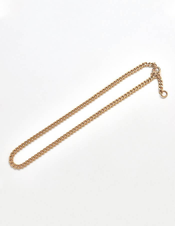 Gold Small Curb Chain Anklet
