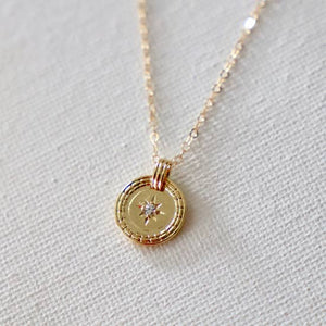 CZ STAR MEDALLION NECKLACE