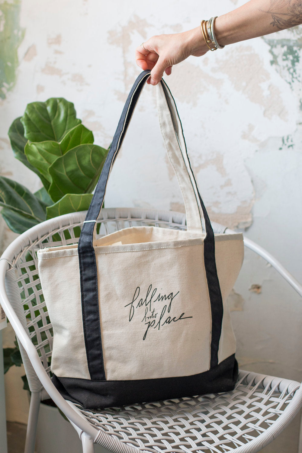 Falling Into Place tote