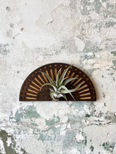 Load image into Gallery viewer, sunrise air plant wall hanger w/ air plant