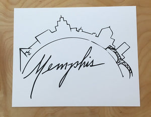Memphis Skyline - prints and cards