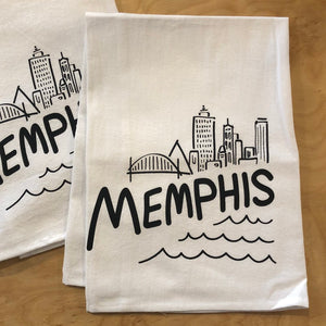 Memphis Skyline Tea Towel