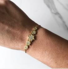 Load image into Gallery viewer, Pave Star Adjustable Bracelet