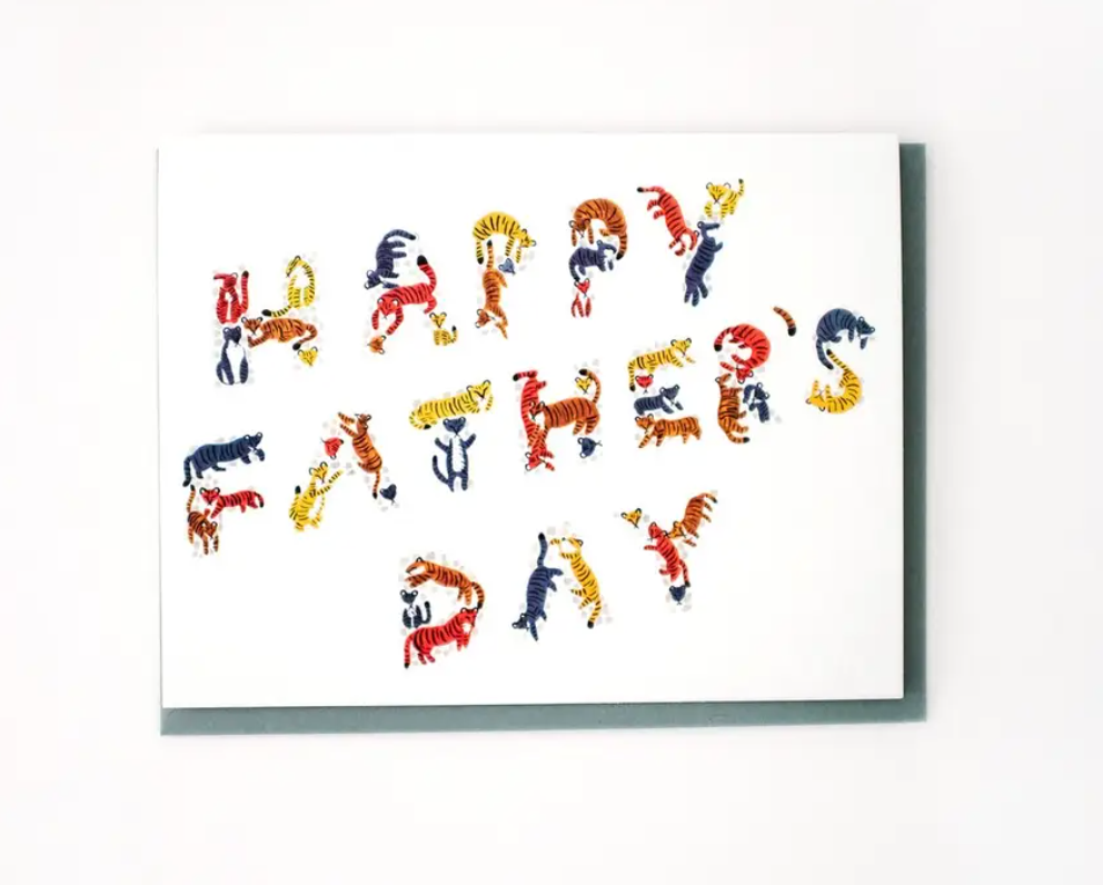 Tiny Tigers Father's Day Card