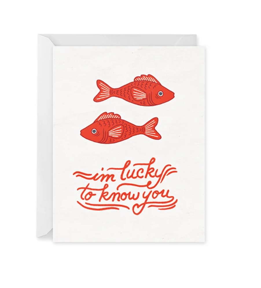 Lucky Fish Card