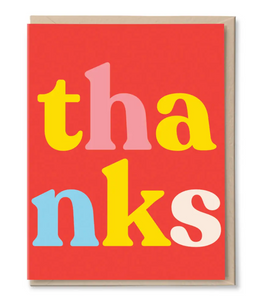 Th-anks Thank You Card