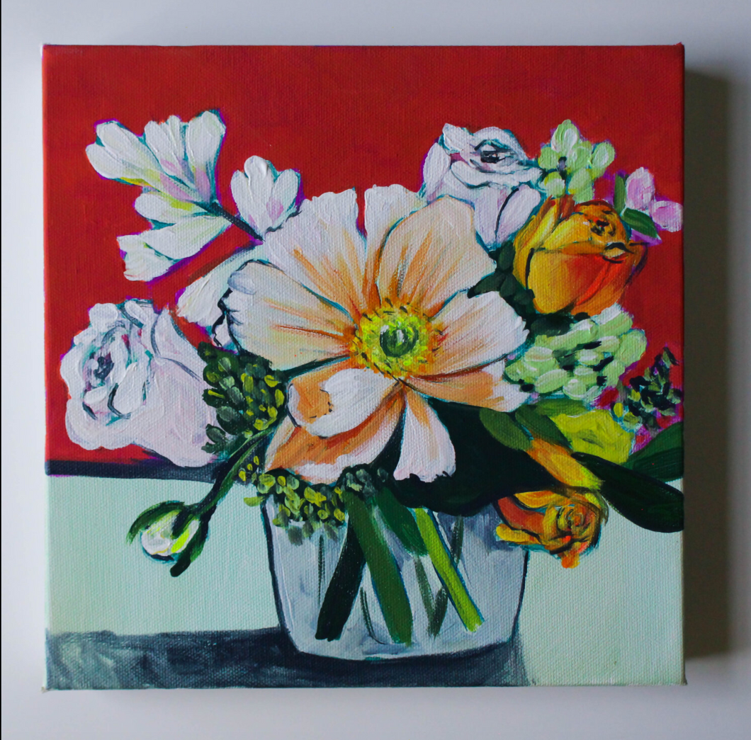 Bright Blooms- 10x10 original
