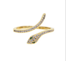 Load image into Gallery viewer, Gold Snake Ring