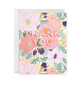 Full Floral Thank You Card