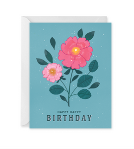 Floral Cluster Birthday Card