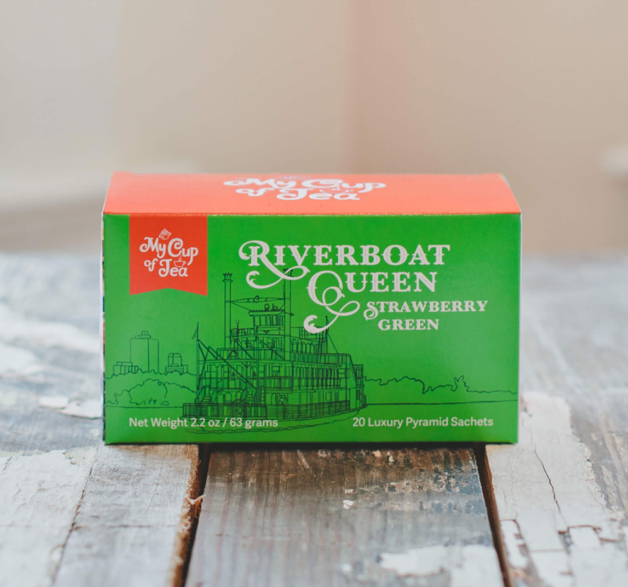 Riverboat Queen Strawberry Green- 20 Tea Bags