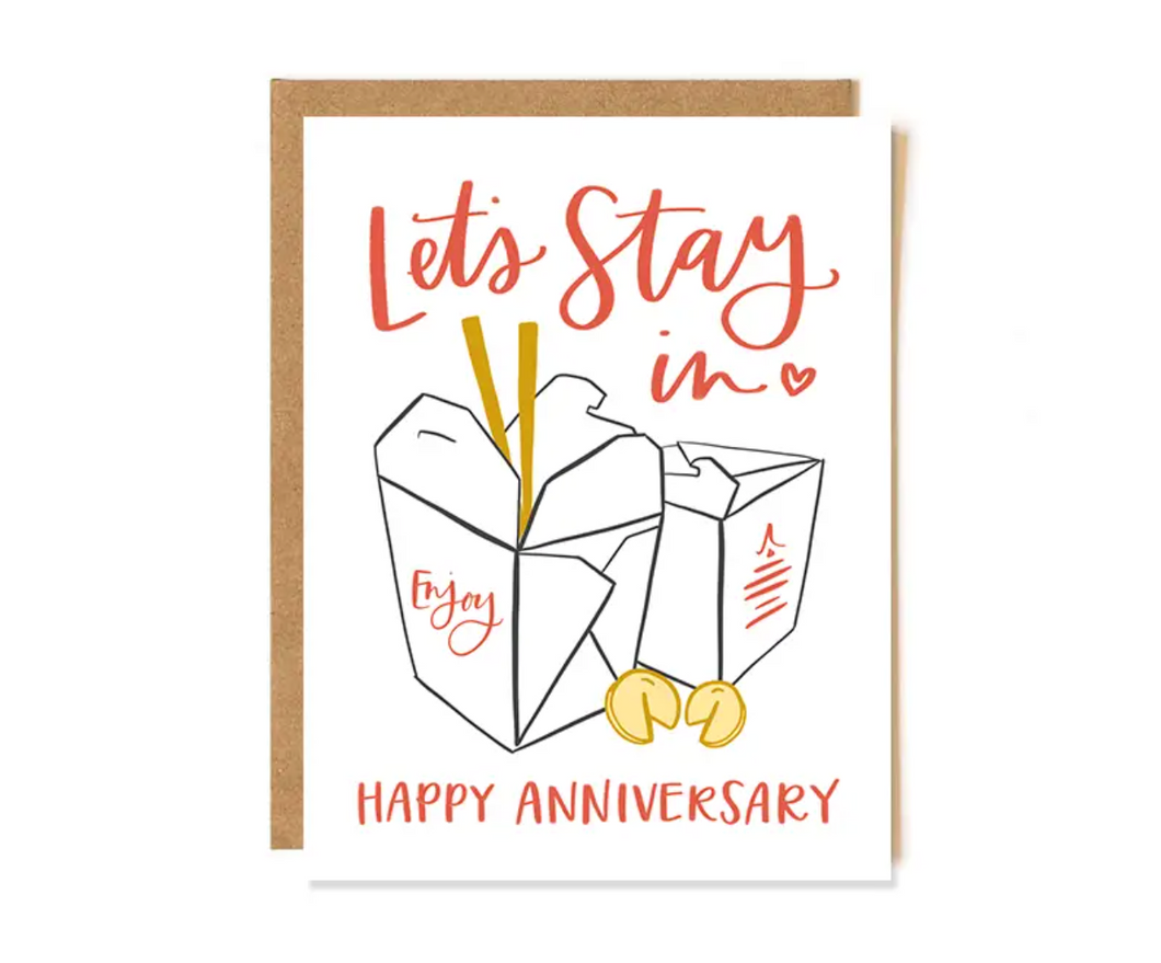 Anniversary Takeout Card
