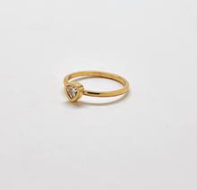 Load image into Gallery viewer, Gold Geo Teardrop Ring