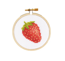 Load image into Gallery viewer, Mini Strawberry- cross stitch kit