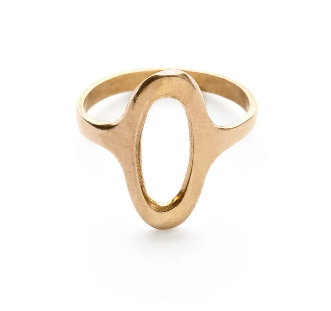 Brass Oval Ring