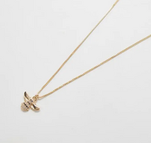 Load image into Gallery viewer, Gold Pave Bee Necklace