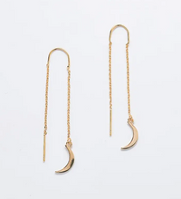 Load image into Gallery viewer, Moon Threader Earrings