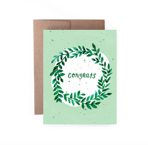 Congrats Wreath Card